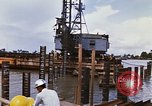 Image of Port construction Saigon Vietnam, 1966, second 12 stock footage video 65675037341