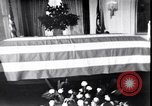 Image of Body of President Kennedy lying in repose in White House Washington DC USA, 1963, second 10 stock footage video 65675037390