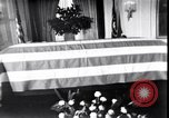 Image of Body of President Kennedy lying in repose in White House Washington DC USA, 1963, second 11 stock footage video 65675037390