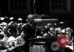 Image of Lyndon Johnson address crowd on Independence Day Philadelphia Pennsylvania USA, 1963, second 1 stock footage video 65675037401