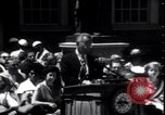 Image of Lyndon Johnson address crowd on Independence Day Philadelphia Pennsylvania USA, 1963, second 4 stock footage video 65675037401