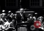 Image of Lyndon Johnson address crowd on Independence Day Philadelphia Pennsylvania USA, 1963, second 5 stock footage video 65675037401