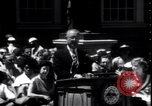 Image of Lyndon Johnson address crowd on Independence Day Philadelphia Pennsylvania USA, 1963, second 8 stock footage video 65675037401