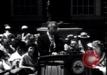 Image of Lyndon Johnson address crowd on Independence Day Philadelphia Pennsylvania USA, 1963, second 9 stock footage video 65675037401