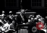 Image of Lyndon Johnson address crowd on Independence Day Philadelphia Pennsylvania USA, 1963, second 10 stock footage video 65675037401