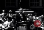 Image of Lyndon Johnson address crowd on Independence Day Philadelphia Pennsylvania USA, 1963, second 11 stock footage video 65675037401