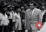 Image of Richard Nixon Angkor Cambodia, 1953, second 7 stock footage video 65675037410