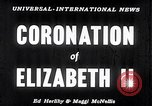 Image of Coronation of Elizabeth II London England London England United Kingdom, 1953, second 2 stock footage video 65675037424