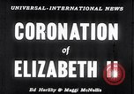 Image of Coronation of Elizabeth II London England London England United Kingdom, 1953, second 3 stock footage video 65675037424