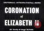 Image of Coronation of Elizabeth II London England London England United Kingdom, 1953, second 5 stock footage video 65675037424