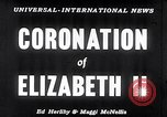 Image of Coronation of Elizabeth II London England London England United Kingdom, 1953, second 6 stock footage video 65675037424