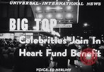 Image of circus benefit for New York Heart Fund New York City USA, 1951, second 3 stock footage video 65675037432