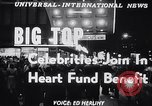 Image of circus benefit for New York Heart Fund New York City USA, 1951, second 4 stock footage video 65675037432