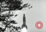 Image of German V-2 missile is launched in a forest Blizna Poland, 1944, second 8 stock footage video 65675037460