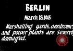 Image of American B-17 aircraft bombing Berlin Berlin Germany, 1945, second 1 stock footage video 65675037600