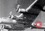 Image of US B-17 aircraft bombing German submarine yards Bremen Germany, 1945, second 12 stock footage video 65675037601