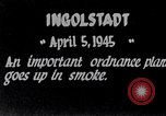 Image of Ingolstadt munitions plant destroyed in World War 2 Ingolstadt Germany, 1945, second 2 stock footage video 65675037602