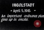 Image of Ingolstadt munitions plant destroyed in World War 2 Ingolstadt Germany, 1945, second 3 stock footage video 65675037602