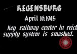 Image of Regensburg railyards bombed in World War 2 Regensburg Germany, 1945, second 1 stock footage video 65675037604