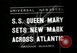 Image of S S Queen Mary makes record transatlantic crossing New York United States USA, 1936, second 1 stock footage video 65675037652