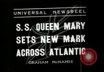 Image of SS Queen Mary makes record transatlantic crossing New York United States USA, 1936, second 2 stock footage video 65675037652