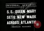 Image of SS Queen Mary makes record transatlantic crossing New York United States USA, 1936, second 3 stock footage video 65675037652