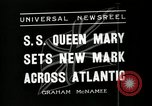 Image of S S Queen Mary makes record transatlantic crossing New York United States USA, 1936, second 4 stock footage video 65675037652