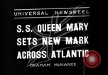 Image of S S Queen Mary makes record transatlantic crossing New York United States USA, 1936, second 6 stock footage video 65675037652