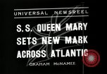 Image of S S Queen Mary makes record transatlantic crossing New York United States USA, 1936, second 7 stock footage video 65675037652