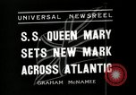 Image of S S Queen Mary makes record transatlantic crossing New York United States USA, 1936, second 8 stock footage video 65675037652