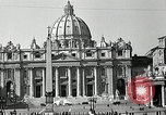 Image of Torch lights mounted on Saint Peter's Basilica Rome Italy, 1935, second 6 stock footage video 65675037669