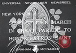 Image of Saint Patrick's procession New York United States USA, 1933, second 4 stock footage video 65675037680