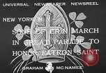 Image of Saint Patrick's procession New York United States USA, 1933, second 6 stock footage video 65675037680