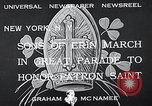 Image of Saint Patrick's procession New York United States USA, 1933, second 8 stock footage video 65675037680