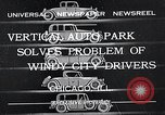 Image of vertical auto park Chicago Illinois USA, 1932, second 1 stock footage video 65675037690