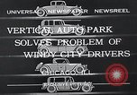 Image of vertical auto park Chicago Illinois USA, 1932, second 2 stock footage video 65675037690