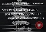 Image of vertical auto park Chicago Illinois USA, 1932, second 8 stock footage video 65675037690