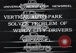 Image of vertical auto park Chicago Illinois USA, 1932, second 10 stock footage video 65675037690