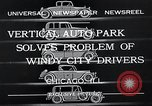 Image of vertical auto park Chicago Illinois USA, 1932, second 11 stock footage video 65675037690
