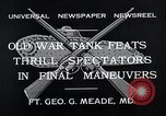 Image of war tanks Fort George G Meade Maryland USA, 1932, second 6 stock footage video 65675037693