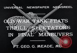 Image of war tanks Fort George G Meade Maryland USA, 1932, second 7 stock footage video 65675037693
