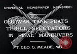 Image of war tanks Fort George G Meade Maryland USA, 1932, second 9 stock footage video 65675037693