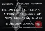 Image of Henry Pu Yi Changchun Manchuria, 1932, second 4 stock footage video 65675037694