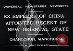 Image of Henry Pu Yi Changchun Manchuria, 1932, second 5 stock footage video 65675037694