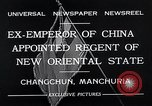 Image of Henry Pu Yi Changchun Manchuria, 1932, second 9 stock footage video 65675037694