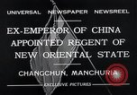 Image of Henry Pu Yi Changchun Manchuria, 1932, second 10 stock footage video 65675037694