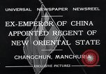 Image of Henry Pu Yi Changchun Manchuria, 1932, second 12 stock footage video 65675037694