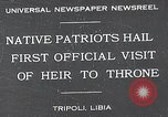 Image of crown prince Tripoli Libya, 1932, second 1 stock footage video 65675037697