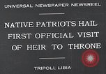 Image of crown prince Tripoli Libya, 1932, second 2 stock footage video 65675037697
