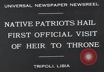 Image of crown prince Tripoli Libya, 1932, second 3 stock footage video 65675037697
